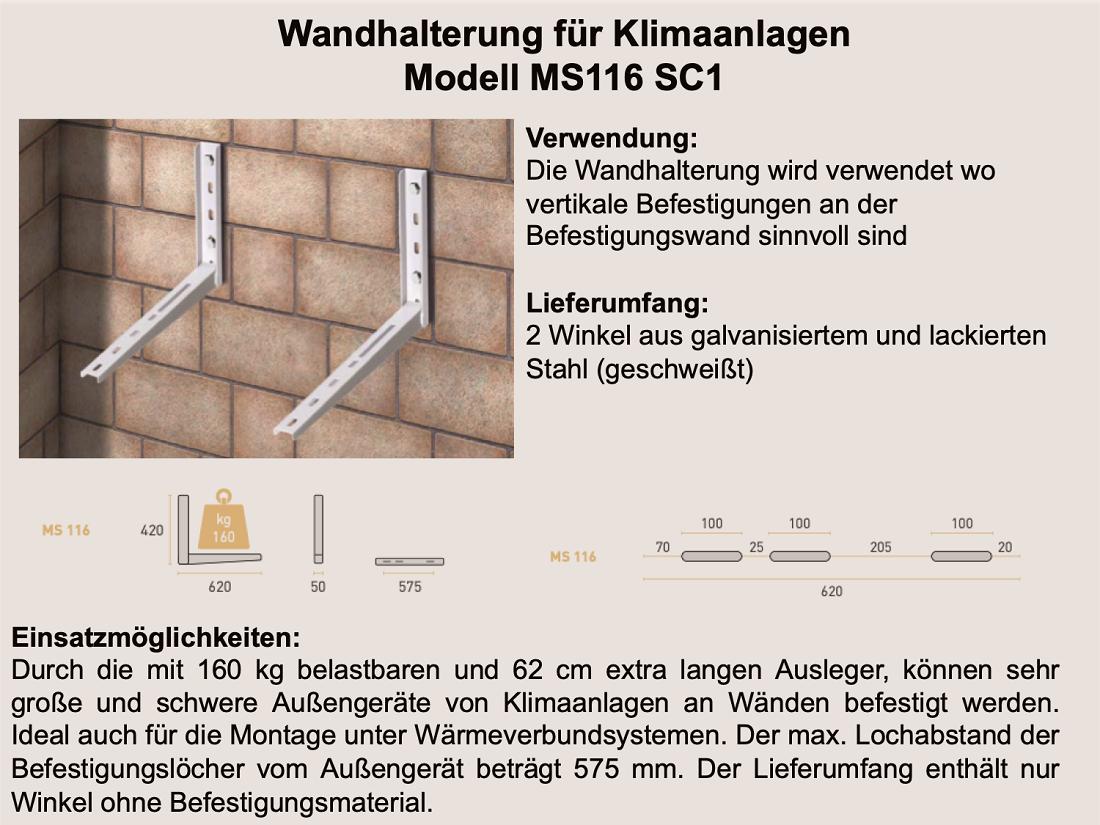 Wandhalterung MS116