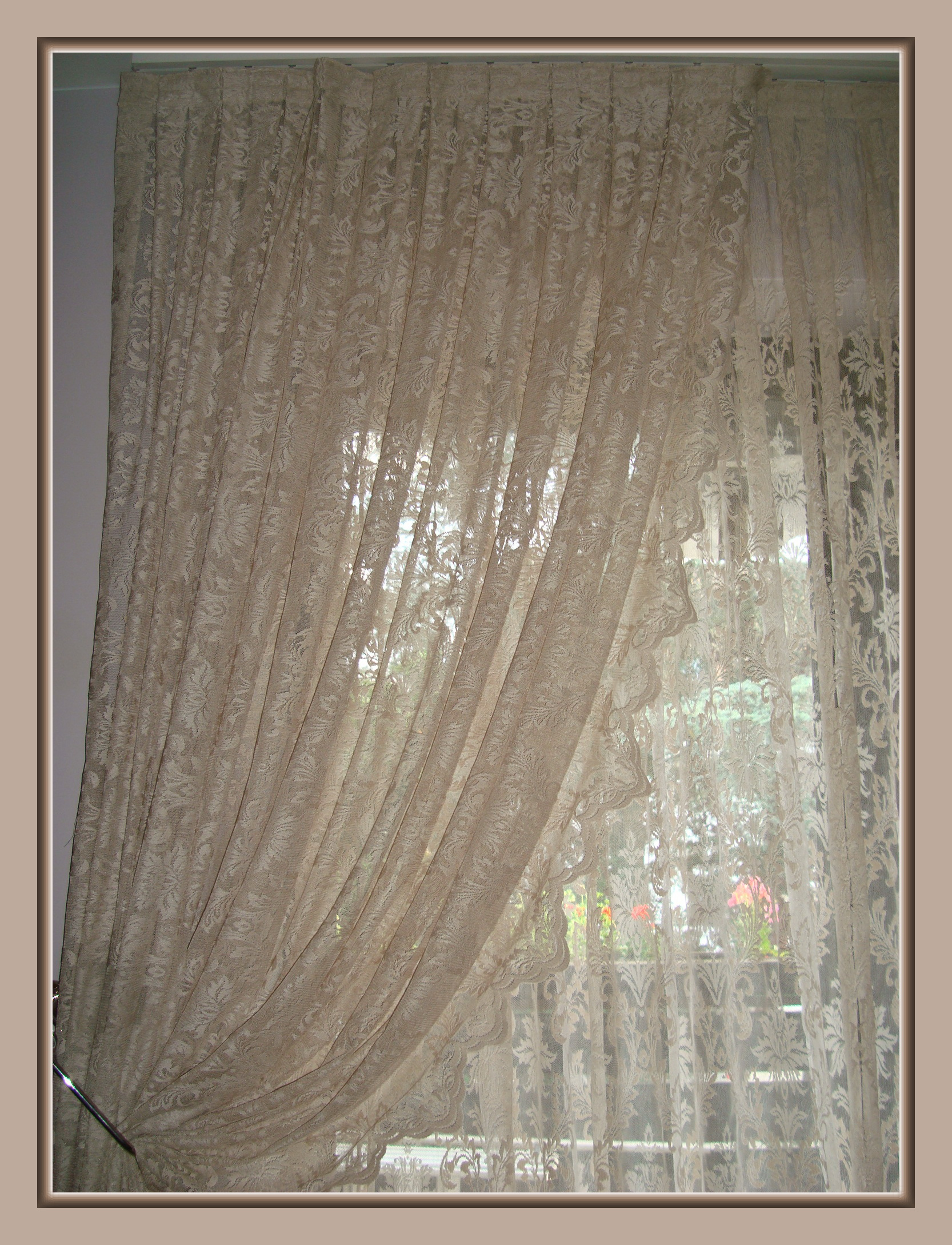 Romantisch elegante barock gardinen dekoschal ranken for Gardinen barock