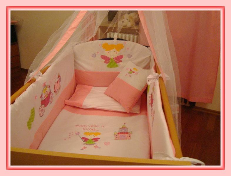 mega baby bettsett fee nestchen babydecke betthimmel windelsack rosa 12 t. Black Bedroom Furniture Sets. Home Design Ideas