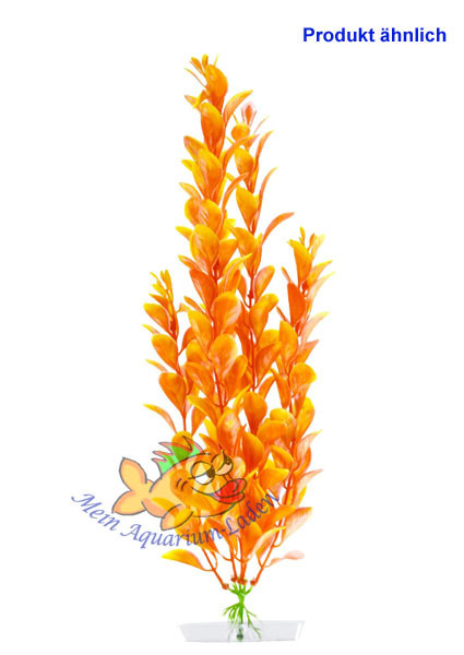 Wasserpflanze Orange Ludwigia Gross 25 28 Cm Kunststoff Deko Aquarium