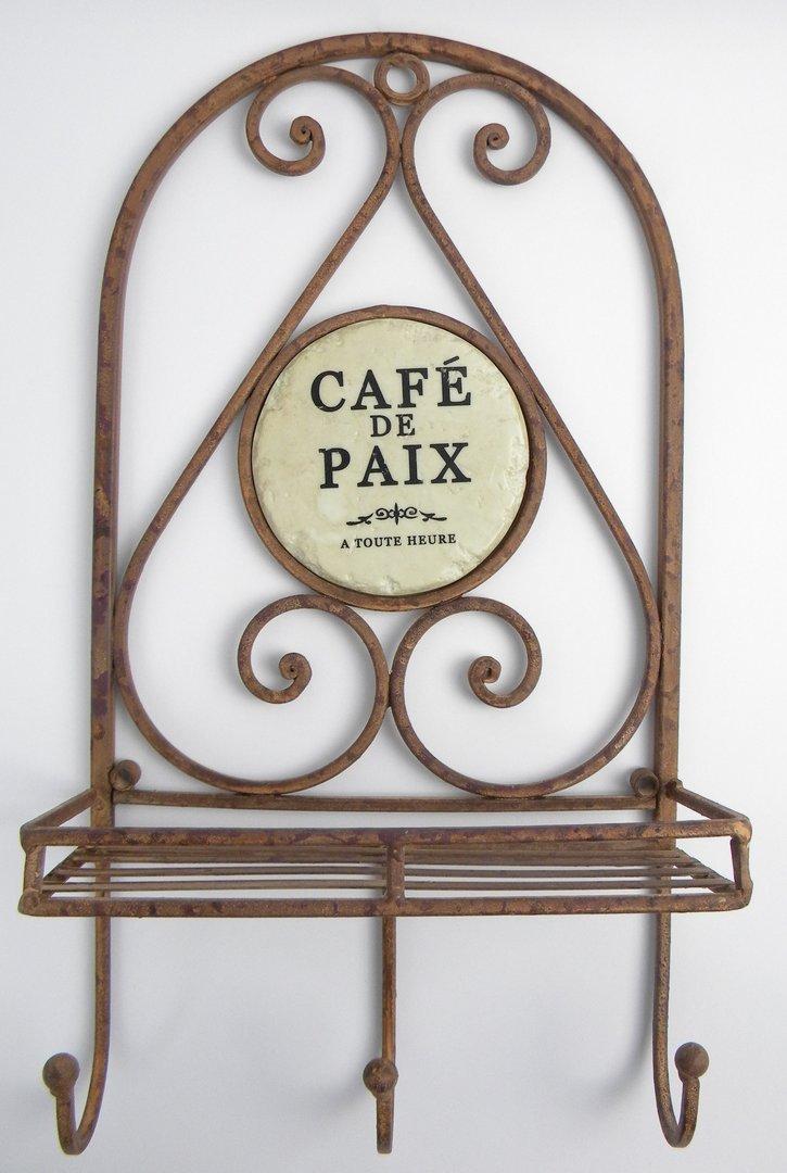 Garderobe CAFE DE PAIX Schmiedeeisen braun