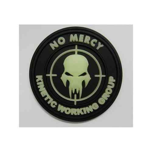 JTG - NO MERCY - KINETIC WORKING GROUP - Insider Patch, gid (glow in the dark) / 3D Rubber patch