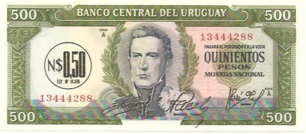 RealBanknotes.com > Uruguay p40s: 500 Pesos from 1939