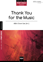 Thank you for the Music (Abba) arr. O. Gies SSATB