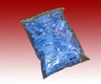 Zander Kreuzklemmen blau, 100 Stück