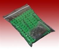 100 Abstandsröllchen mit Nägel grün