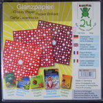 "Glanzpapier ""Sterne"" rot-Mix"