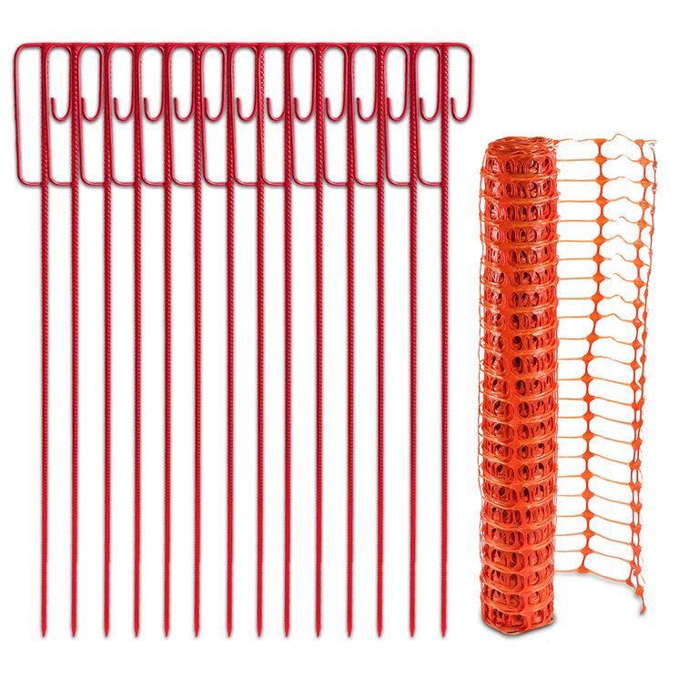 Fangzaun-Halter-orange_14er-Set