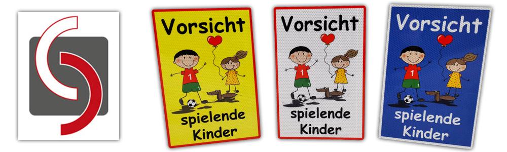 UvV-Warn-und-Hinweisschilder-Vorsicht-spielende-Kinder