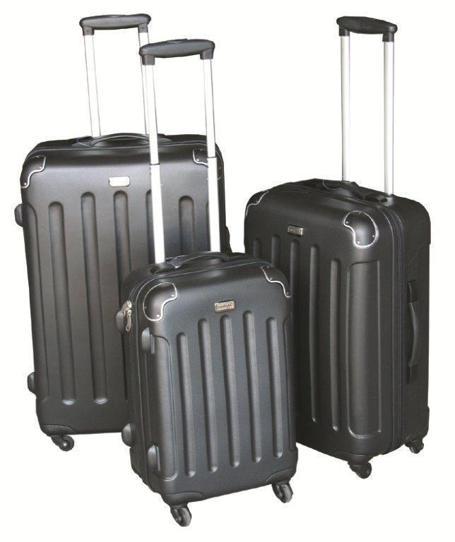 3 tlg reisekofferset kofferset trolley reisekoffer koffer. Black Bedroom Furniture Sets. Home Design Ideas