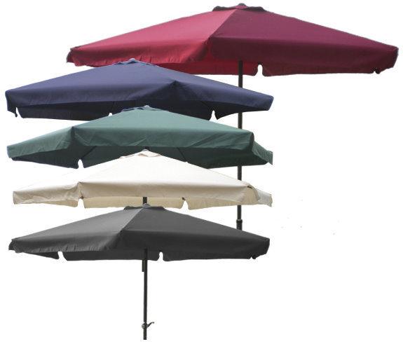 Sonnenschirm O 3m Mit Kurbel Und Krempe Schirm Gartenschirm Beige