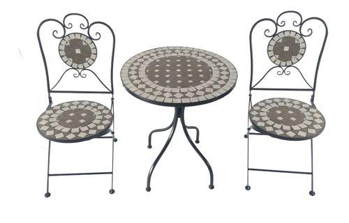 Bistro Set Eisen Gartengruppe Sitzgruppe Stuhl Tisch