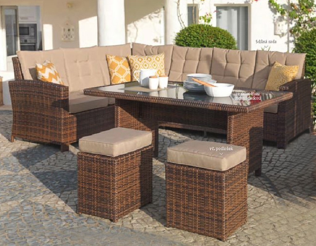 Garten Sitzgruppe Lounge Set Rattan Gartengarnitur Gartentisch