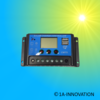 Solar Charge Controller 20A 12V / 24V LCD Blue settable