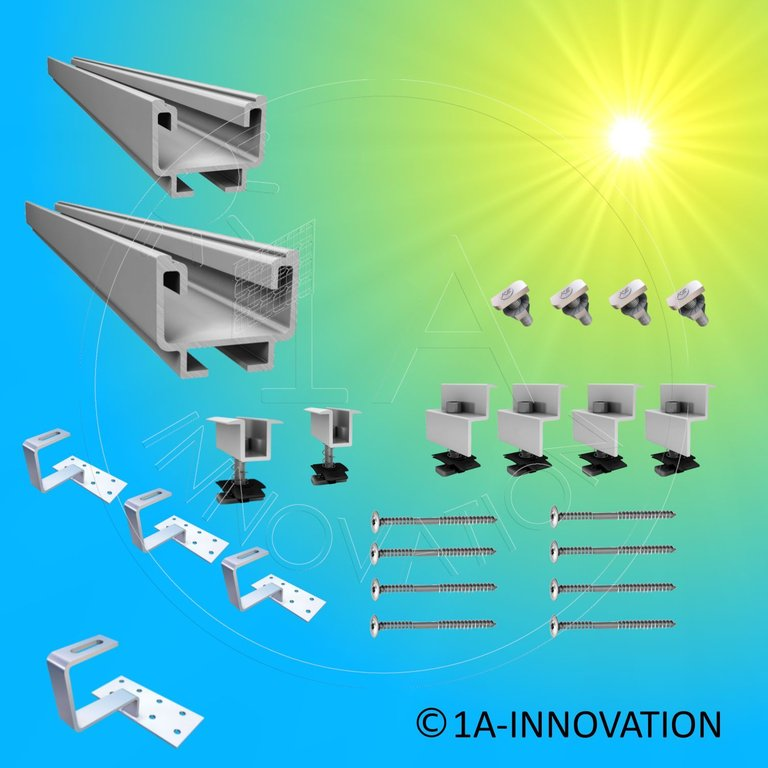 Heimwerker Solar Montagesystem Dachhalterung Unterkonstruktion Für Solarmodul 250w 280w Photovoltaik-zubehör