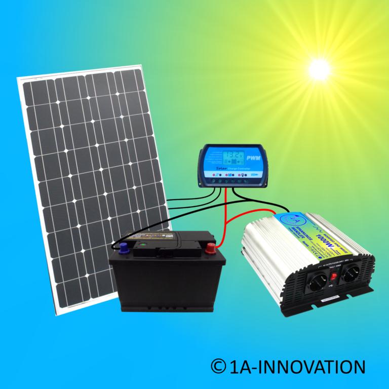 1a-innovation Inselanlage Solaranlage 100 Watt Solarpanel Photovoltaik Pforzheim Haushaltsgeräte