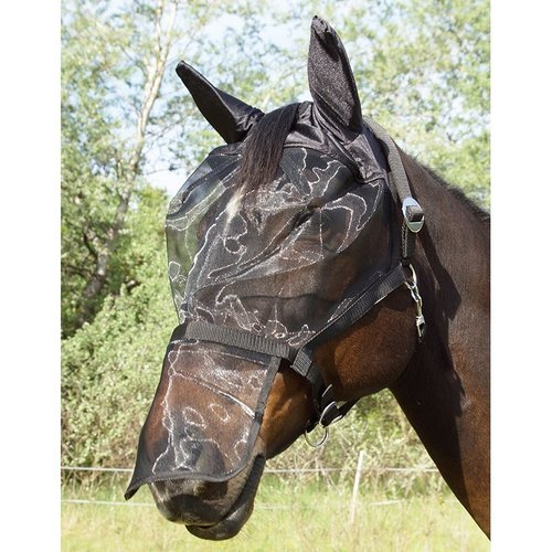 Halter with integrated fly mask