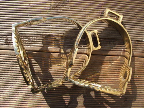 Brass Baroque stirrups
