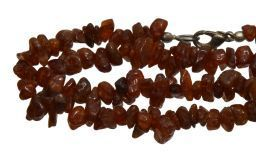 Gemstone Splinter Necklace Mahogany Obsidan