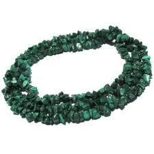 Gemstone Splinter Necklace Malachite
