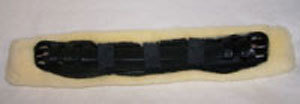 Belly belt cover made of genuine lambskin