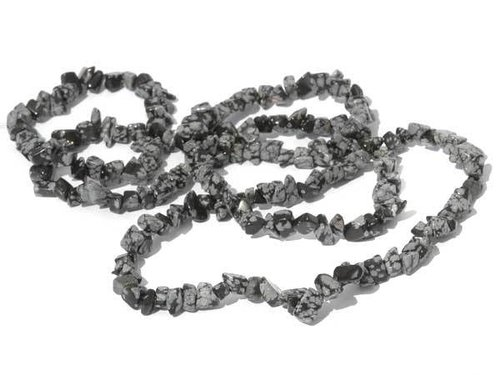 gemstone splinter chain snowflakeobsidian