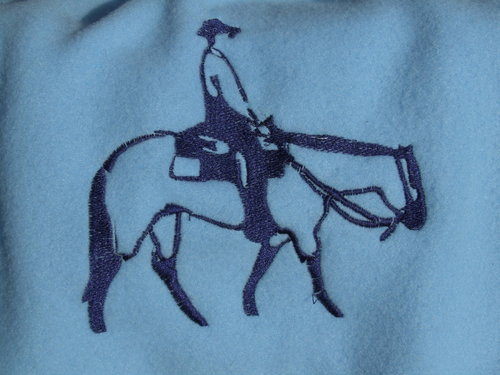 embroidery designs Western rider