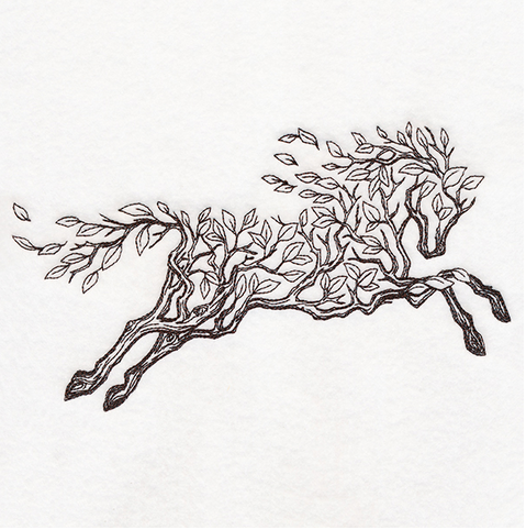 Embroidered horse Beltane