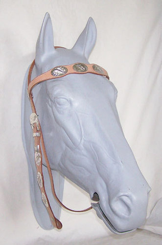 Draft Western bridle with three chonchas