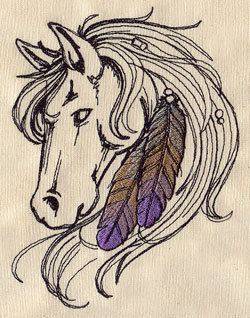 embroidery design Indian Horse
