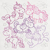 embroidery designs Unicorn Party