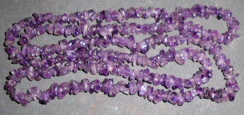 Gemstone Splinter Necklace Amethyst