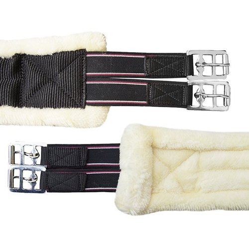 Cuddly saddle girth with teddy fur lining