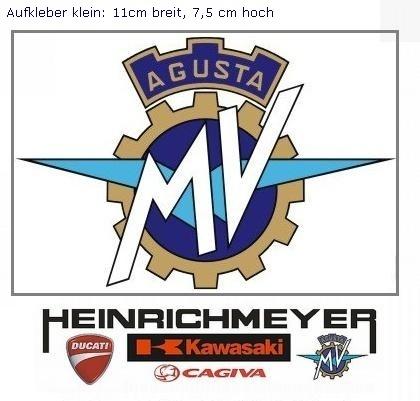 myrockshirt Motorradaufkleber MV Agusta Logo ca.15cm Aufkleber Sticker Decal Profi-Qualit/ät ohne Hintergrund Bike Tuning