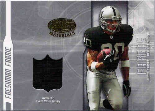 2003 Leaf Certified Justin Fargas Jersey RC/1250 Raiders!