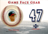 2003 Upper Deck Game Face Gear #TG Tom Glavine Jersey Mets!