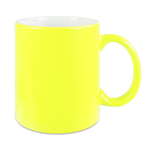 Neontasse in gelb