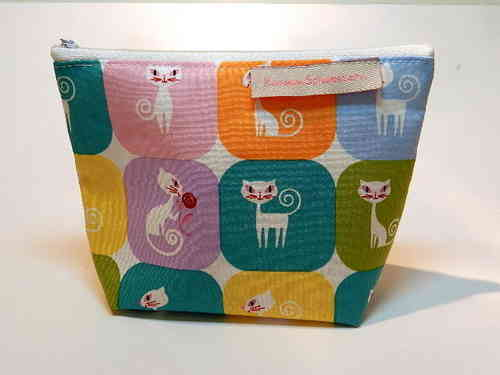 small make-up bag cotton - KITTY CAT / CATS
