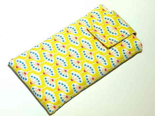 smartphone cover - FLOWERS ON YELLOW - strap