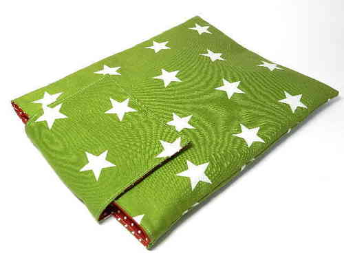 "tablet PC cover cotton ""STARS ON GREEN"" bag"