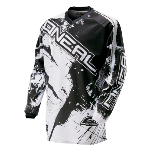 O`NEAL ELEMENT JERSEY SHOCKER BLACK/WHITE