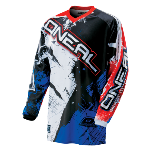 O`NEAL ELEMENT JERSEY SHOCKER BLACK/BLUE/RED
