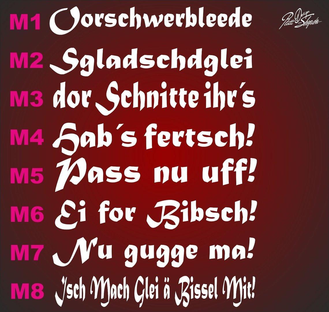 Sachsen Spruch