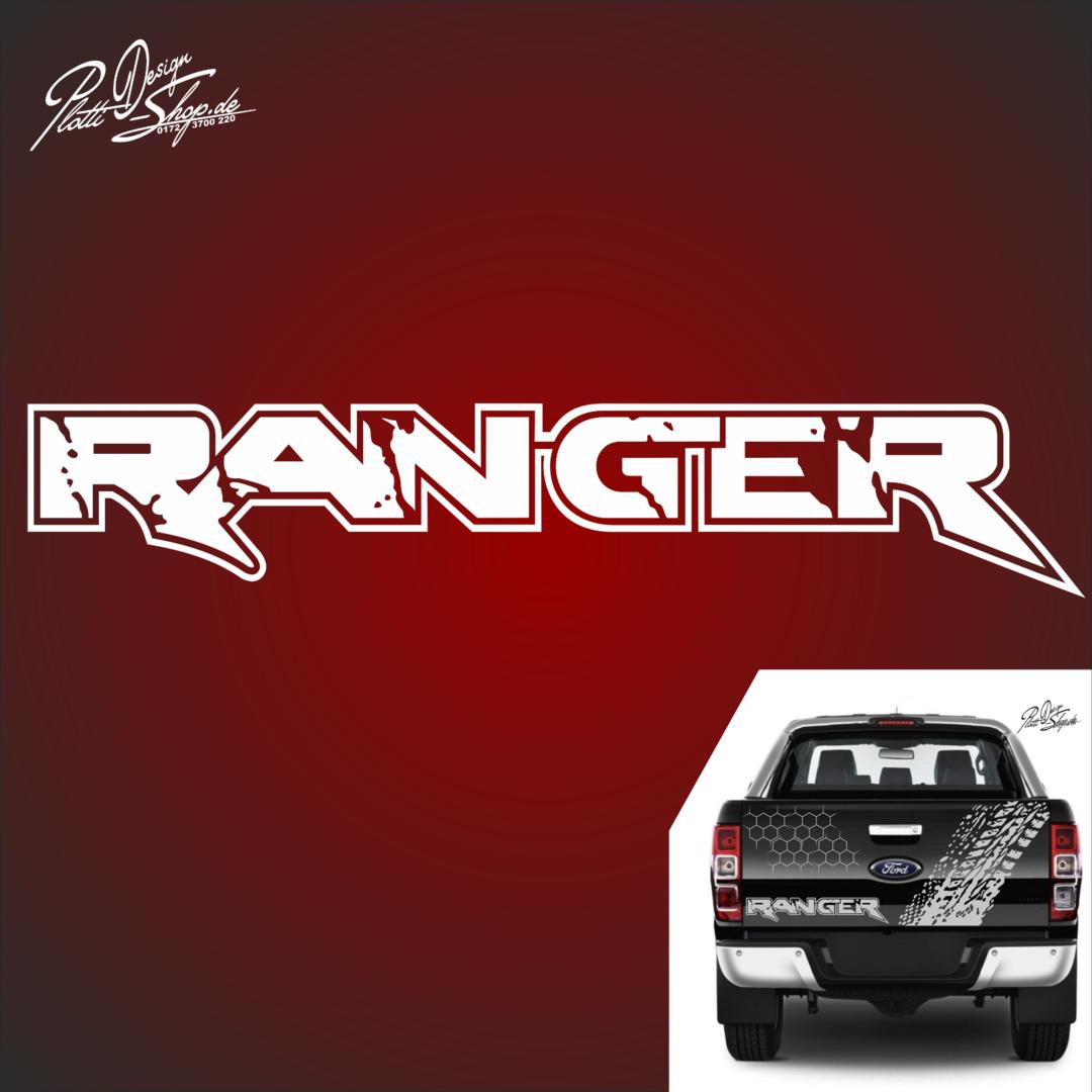 A1003 1 Ranger 66 X 12cm Aufkleber Autoaufkleber 4x4 Passt Für Ford Ranger 2ab Raptor
