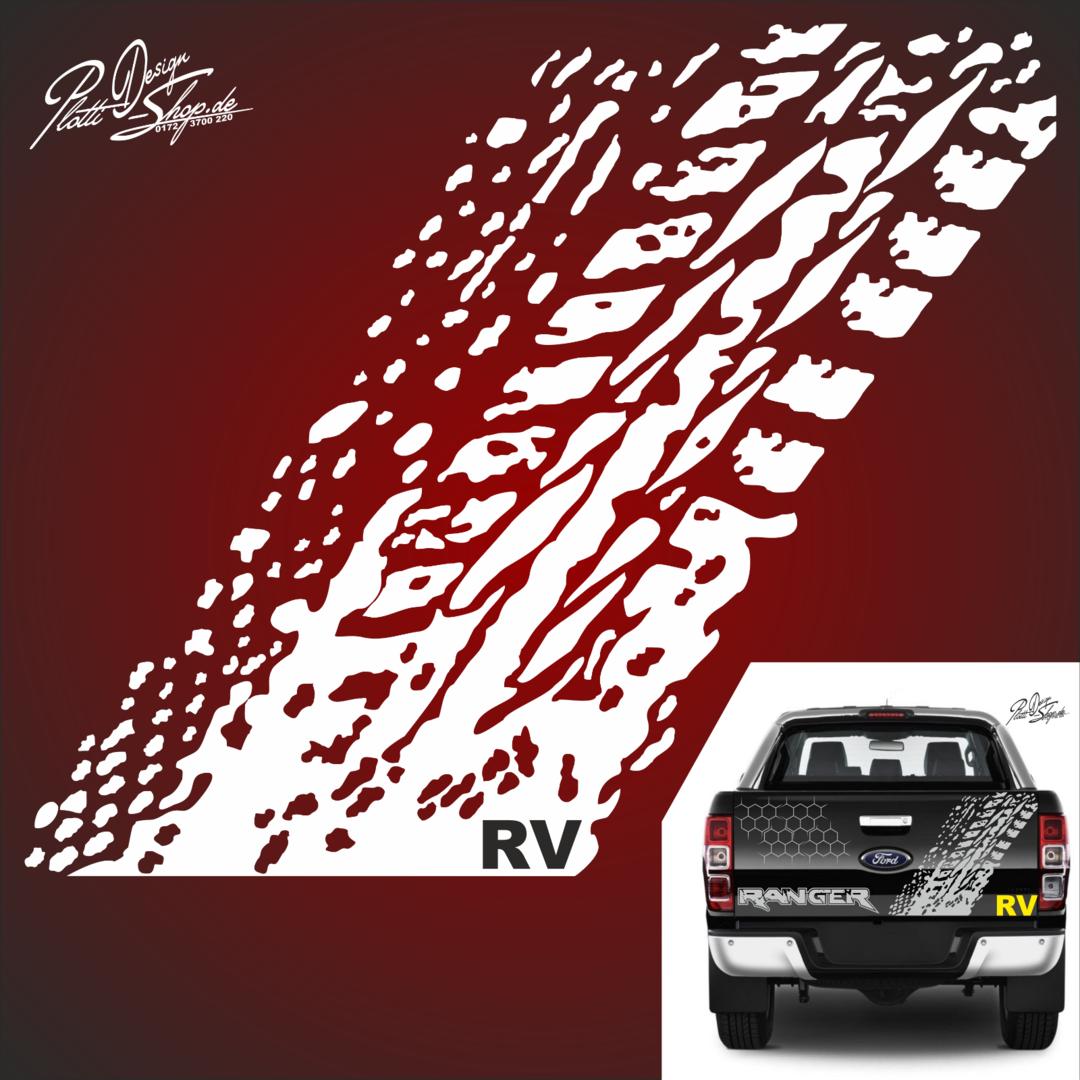 A1001 1 Reifenspur Aufkleber Autoaufkleber 4 X 4 Passt Für Ford Ranger 2ab Raptor