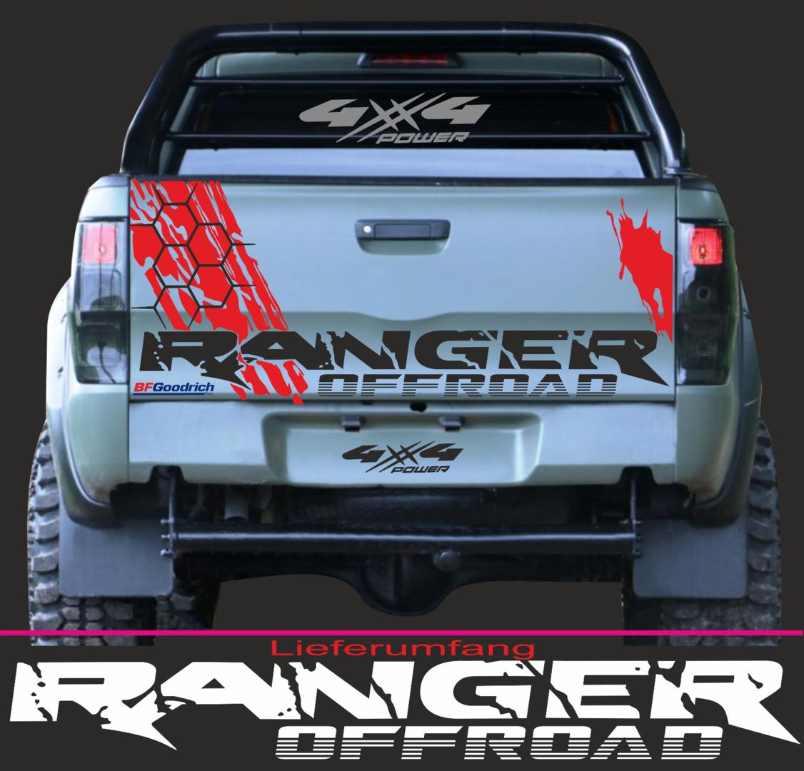 1 Ranger Offroad Aufkleber 135cm X 16cm 4x4 Pick Up Dekor 4 X 4 Passt Für Ford 2ab