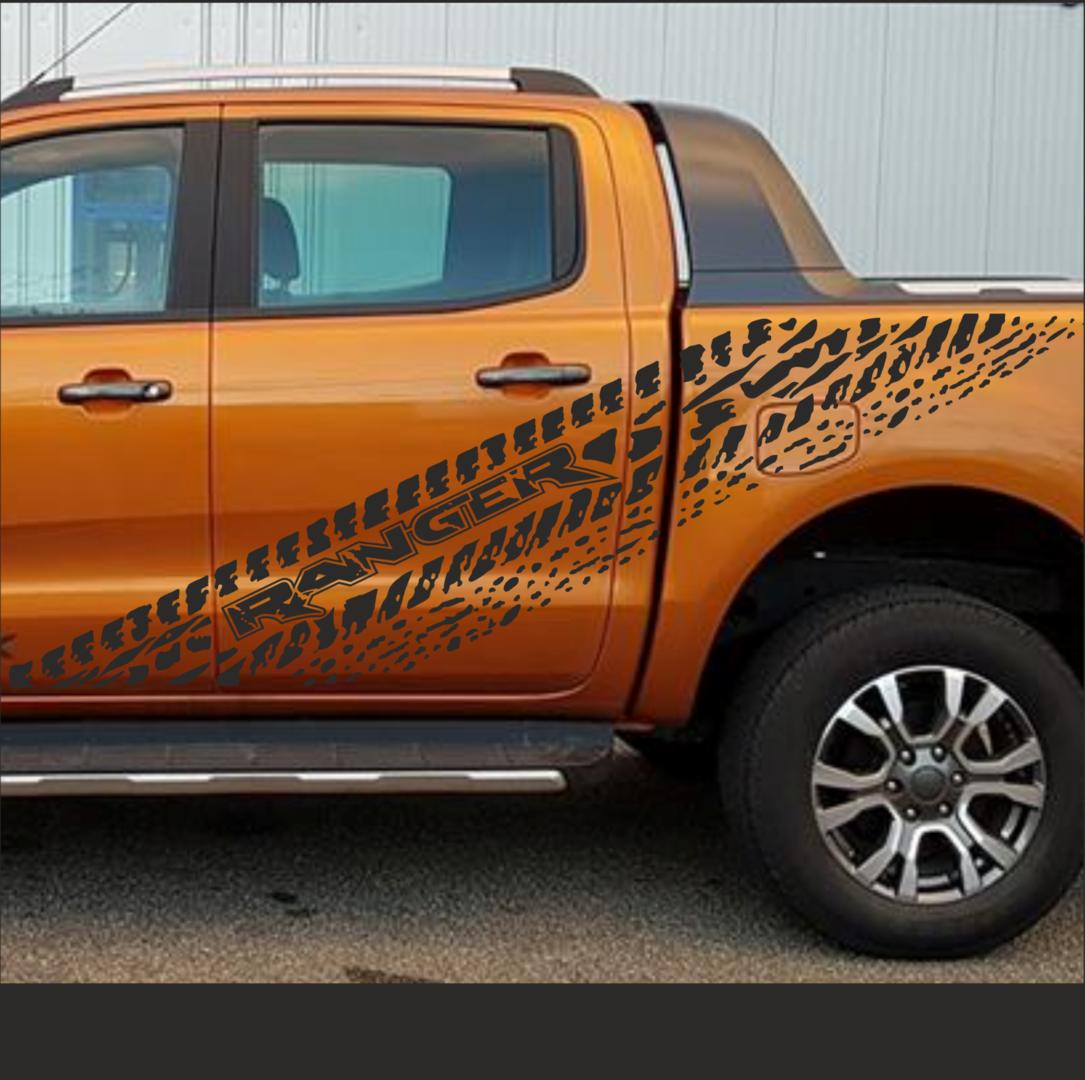 A0600 1 Set Ranger Aufkleber Set Passt Für Ford Ranger 2ab 4x4 Raptor Reifenspur Spritzer Beide Seit