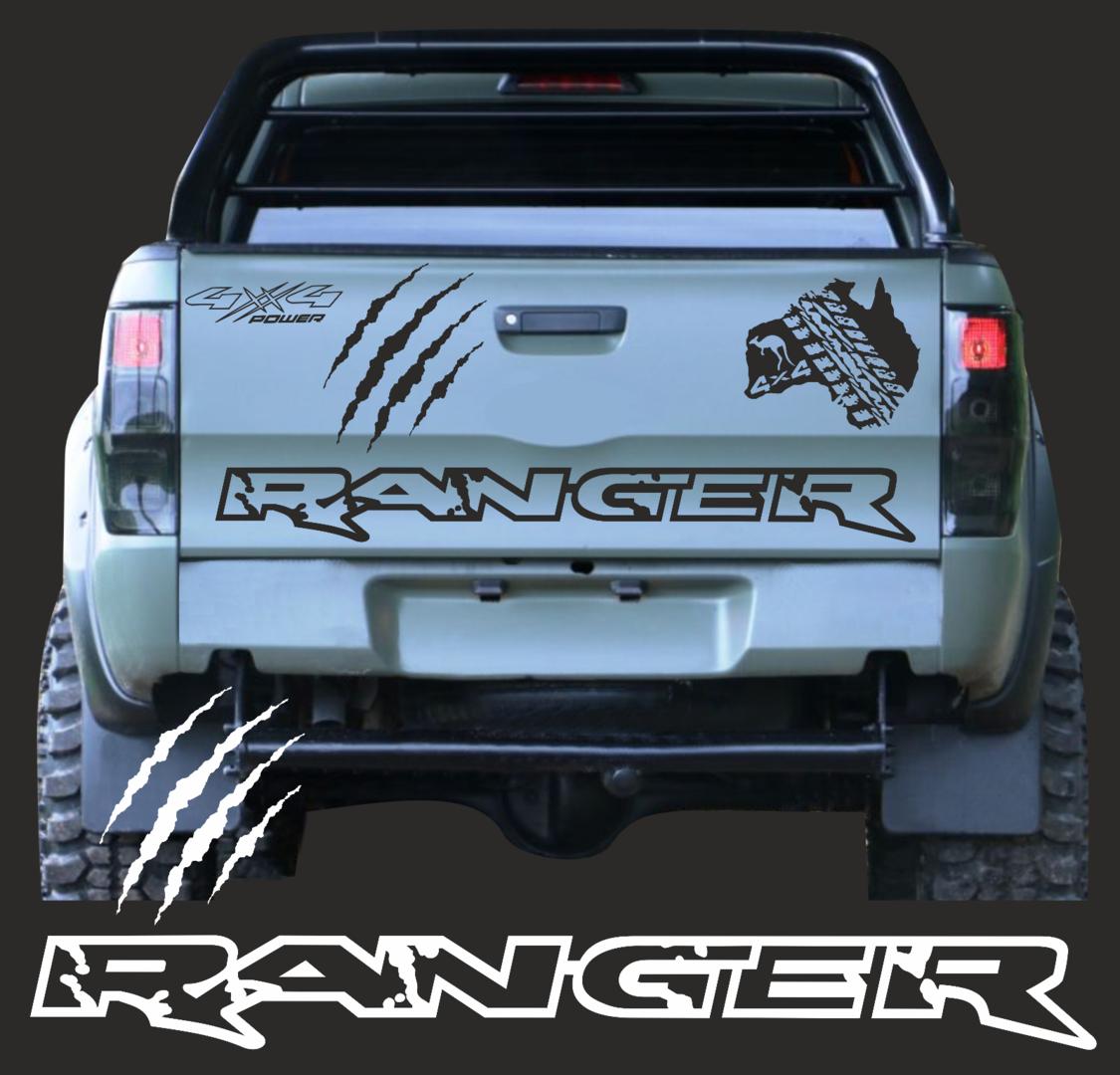 A1076 1x Ranger 4x Kratzer Aufkleber 130cm Rand Pick Up Ranger 4 X 4 Passt Für Ford 2ab