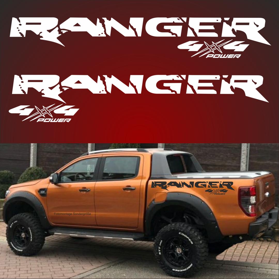 R00052x Ranger Aufkleber 2x 4x4 Aufkleber Passt Für Ford Ranger 4 X 4 Off Road Jeep