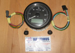VDO Viewline Tachometer 85mm, 12/24 V, 0-3000 rpm, inside: black, with LCD-Display
